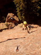 Rock Climbing Photo: Mid-pitch.