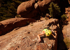 Rock Climbing Photo: Near the top.