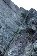 Rock Climbing Photo: It seemed natural and most direct to continue up t...