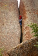 Rock Climbing Photo: The upper section of Gates of Ladore.
