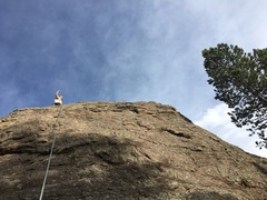 Rock Climbing Photo: Cassie on top of Gus.