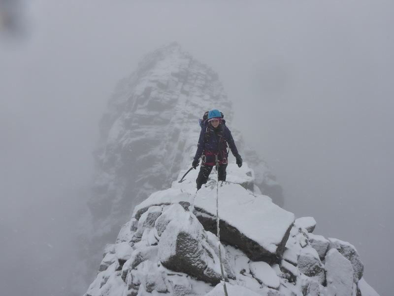 Crossing the ridge