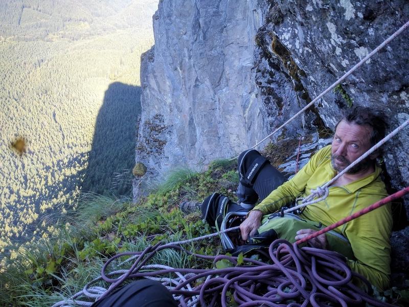 Rock Climbing Photo: Bill Chillin top of pitch 12.