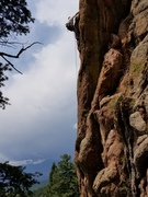 Rock Climbing Photo: Unknown route. Far right of Sunshine Slab.
