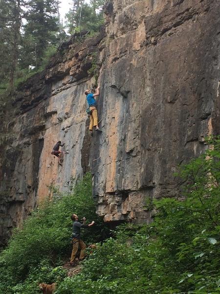 Rock Climbing Photo: Eric Dixon on American Girl.