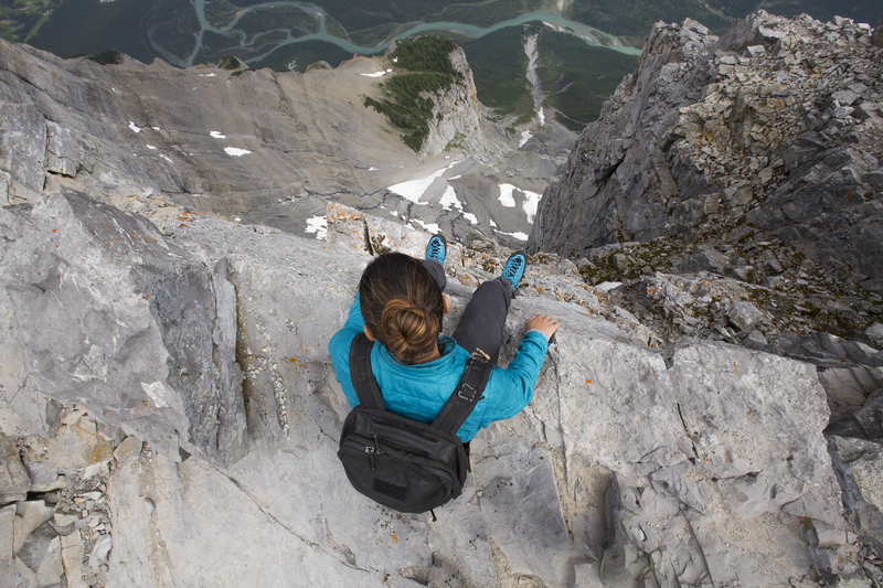 Rock Climbing Photo: View from the top of Mt. Rundle.