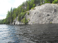 "Rock Climbing Photo: We landed and then ""parked"" our canoe on..."