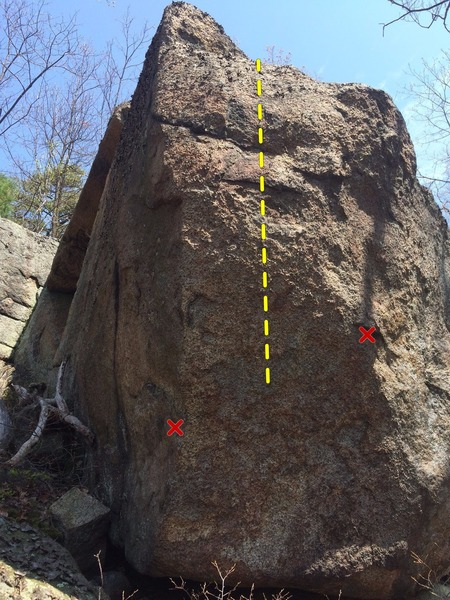 Rock Climbing Photo: View of the problem