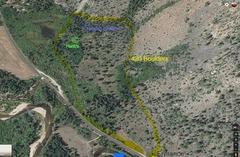 Rock Climbing Photo: Top view, Area/ Entrance. Hank's & Circadian Rhyth...