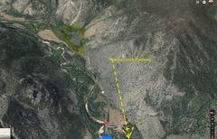 Rock Climbing Photo: Top view, 420 Boulders from Kinikinik Colorado.