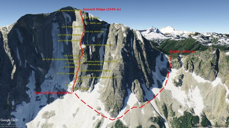 Rock Climbing Photo: My google earth topo