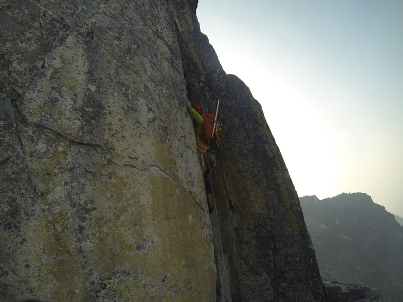 Dan entering the off-width (pitch...14?)