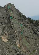 Rock Climbing Photo: White Crystal Crack Topo