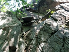 Rock Climbing Photo: A distinctive feature just before the scramble on ...