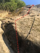 Rock Climbing Photo: Route path.