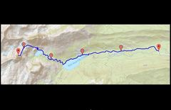 Rock Climbing Photo: This is the best ascent/descent route.  Expect a 3...