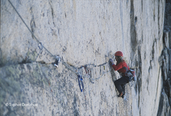 Rock Climbing Photo: Patience Gribble following the namesake traverse d...