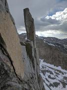 Rock Climbing Photo: cool pinnacle at the top of p4.