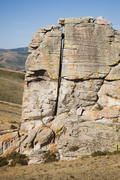 Rock Climbing Photo: Climb 10' inside the chimney. There's an obvious f...