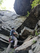 Rock Climbing Photo: Stay left at Six Pack Roof to climb The Slot. Brin...