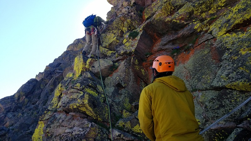 Rock Climbing Photo: Greg Hansen belaying me as I lead exposed the head...