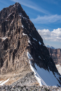 Rock Climbing Photo: The view of the Upper East Ridge and false summit ...