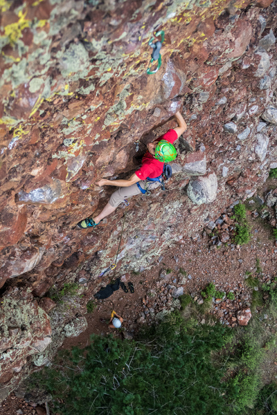 Rock Climbing Photo: Climbing into the steeper upper section. August 20...