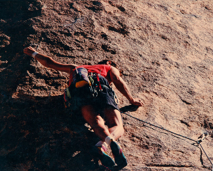 Rock Climbing Photo: Kris Solem leading Stand and Deliver.