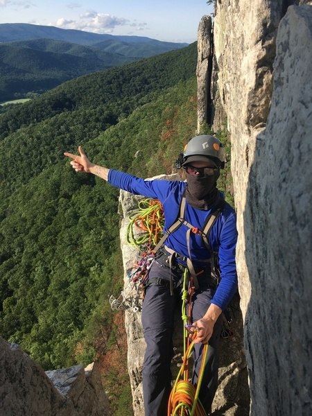 Rock Climbing Photo: Getting tactical on gunsight