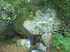 Rock Climbing Photo: Mad Gab's Mouth Blue: Feet start Yellow: Hand st...