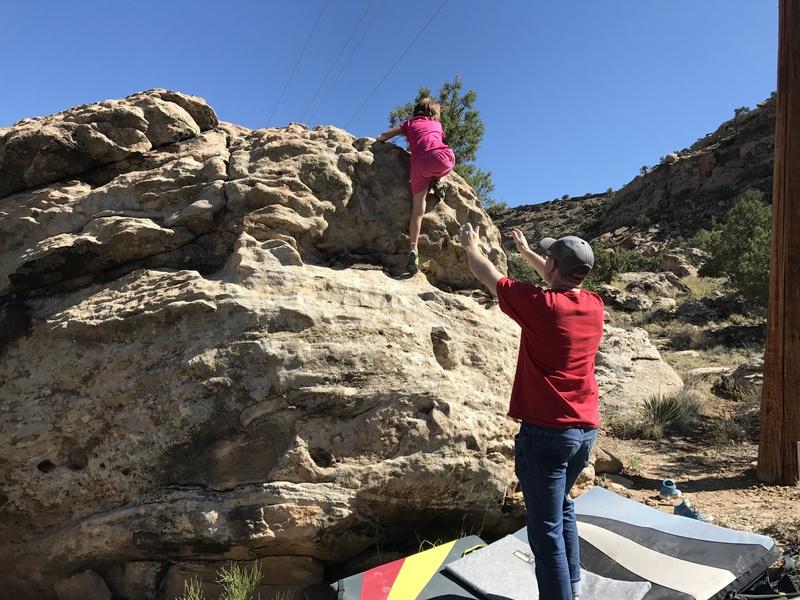 Rock Climbing Photo: The FA!