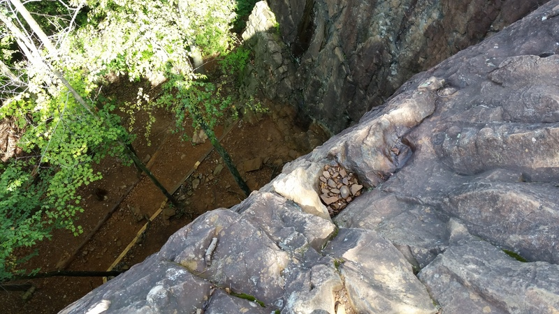 The top of First Crack, if you wanted to set a toprope anchor.