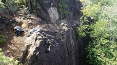 Rock Climbing Photo: View of the top of First Crack from the top of Ent...