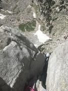 Rock Climbing Photo: coming up the sqeeze section