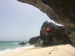 Rock Climbing Photo: Teri finishing up Not Wrong Since the Dinosaurs.