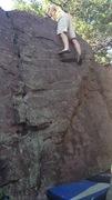Rock Climbing Photo: Dan on the slab