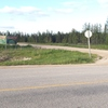 Turn north onto a gravel road from highway 39.