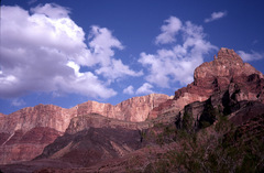 Rock Climbing Photo: Comanche Point from near Tanner Rapid- note the sl...