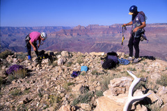 Rock Climbing Photo: On the summit of Comanche Point, getting ready for...