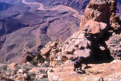 Rock Climbing Photo: Scrambling back to the summit of Comanche Point af...
