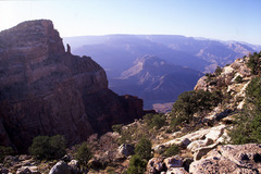 Rock Climbing Photo: Summit of Comanche Point (left), with the crooked ...