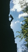 Rock Climbing Photo: moving around the corner