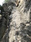Rock Climbing Photo: Showing route