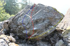 Rock Climbing Photo: Yellow - The Searing Red - Mad Max Blue - Big Ho...