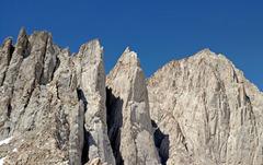 Rock Climbing Photo: Third Needle + Crooks Peak + Keeler Needle + Mt Wh...
