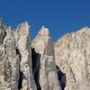 Third Needle + Crooks Peak + Keeler Needle + Mt Whitney seen from Pinnacle Ridge to east