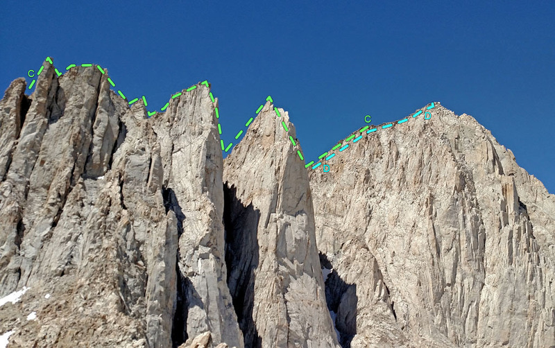 Rock Climbing Photo: Third Needle + Crooks Peak + Keeler Needle seen fr...