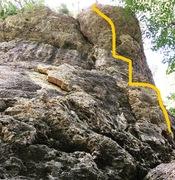 Rock Climbing Photo: Julie's Kiss line.
