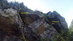"Rock Climbing Photo: I believe the LEFT track is the ""real"" m..."