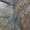 The crack section as seen from the large ledge after the first 30'.